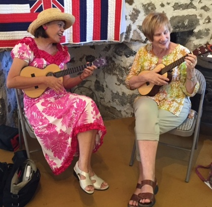 Linda takes private lessons from Ukulele Mele